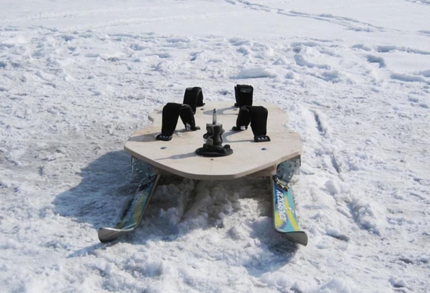 Виндсерф с лыжами