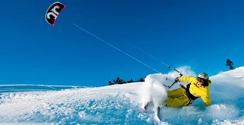 Виндсерфинг по снегу