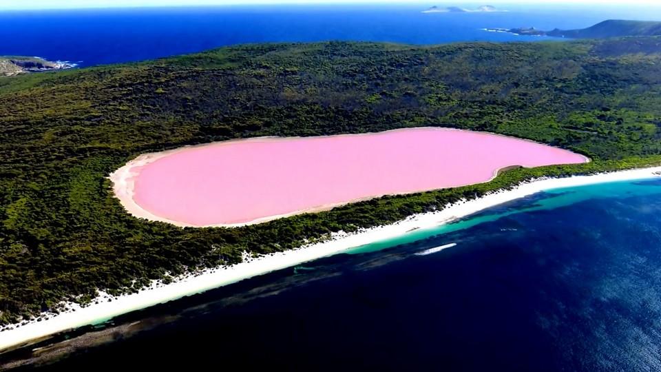 Озеро Хиллияр, Австралия