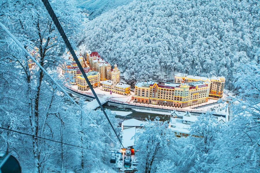 Красная поляна, горнолыжные курорты России