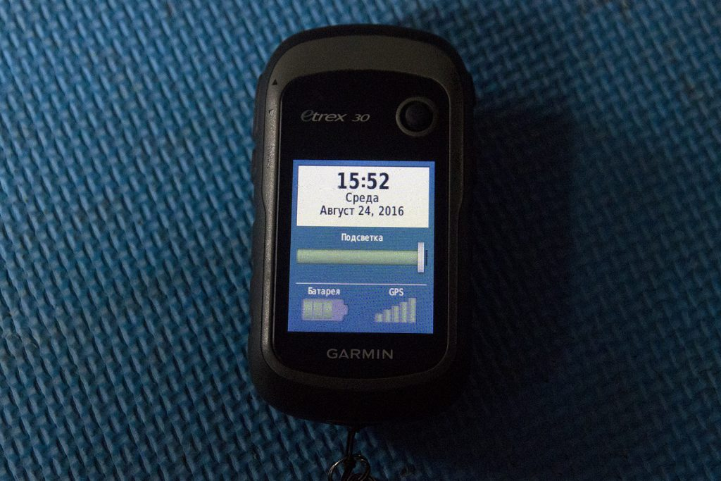 Прием сигнала Garmin Etrex 30