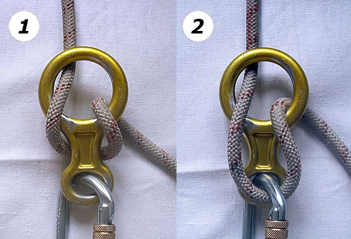 Способы заправки веревки в восьмерку