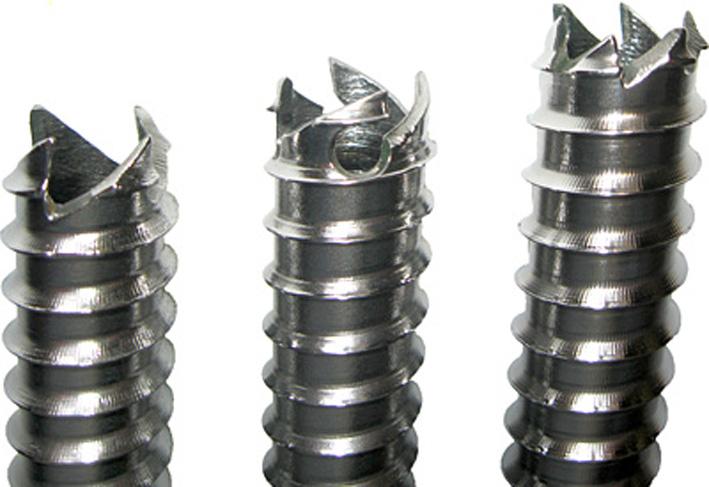 Ледобур, форма зубьев