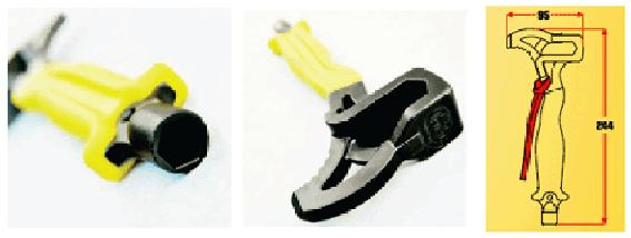 Различные ключи в скальном молотке Kong Eagle
