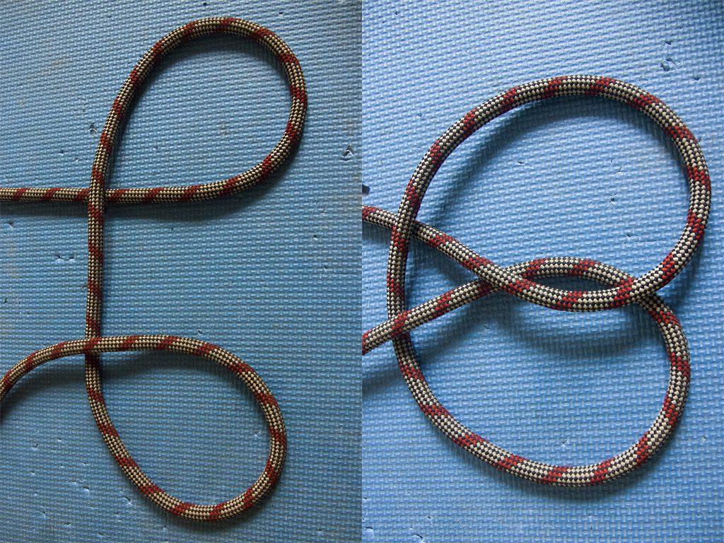 Завязывание стремени при помощи петель